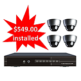 4 Dome Security Cameras Specials and Sales